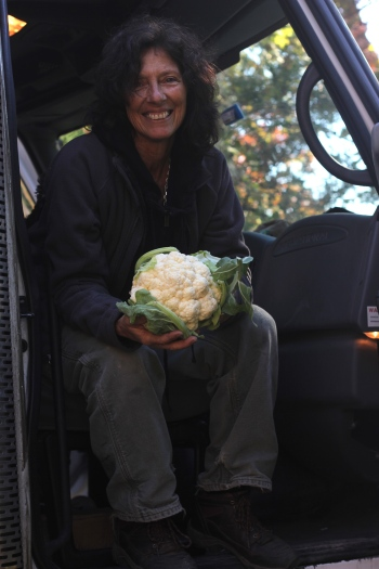 Farmer Gerry Greco of Hepworth farms with a wonderful recipe suggestion use lightly steamed cauliflower in place of potatoes in your favorite potato salad recipe