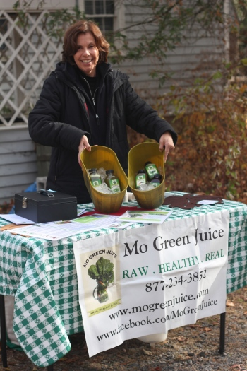 Nancy from Mo Green Juice at the final delivery