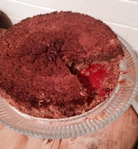 New Years Chestnut cake with Sweet Cornmeal crust