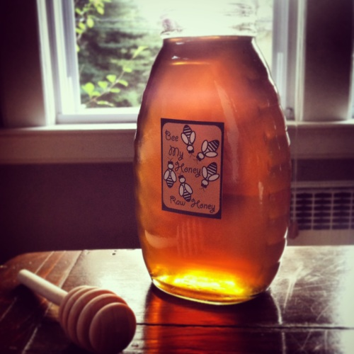 1st spin out honey of 2014- Look at that color!