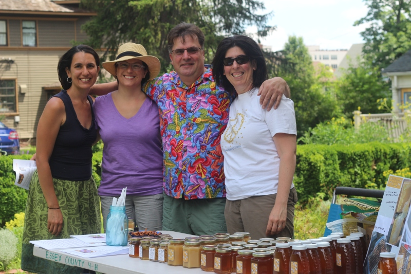 Gwen and core member Annalise with Jeff and Michele of Bee My Honey Apiary